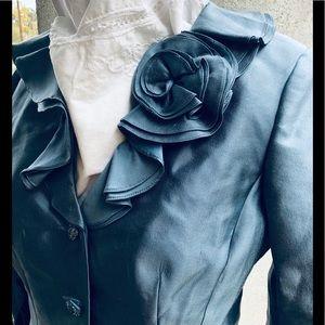 Silk & Cotton Ruffled Crop Jacket